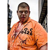 Prison Zombie Photographic Print