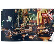 """Crosstown Traffic"" New York Watercolor Poster"