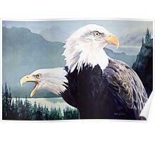 """Vigilance"" Bald Eagle Watercolor Poster"