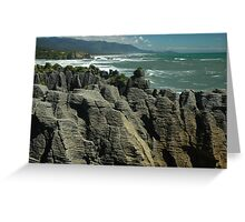 Pancake Rocks Greeting Card