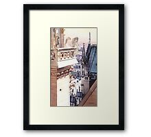 """Aspire"" Cathedral of Notre Dame Watercolor Framed Print"