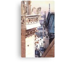 """""""Aspire"""" Cathedral of Notre Dame Watercolor Canvas Print"""