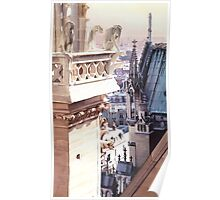 """Aspire"" Cathedral of Notre Dame Watercolor Poster"
