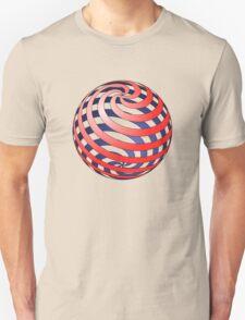 3D Spiral Sphere Unisex T-Shirt