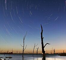 Star Trails Lake Mulwala by Annette Blattman