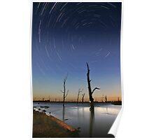 Star Trails Lake Mulwala Poster