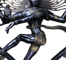 Shiva Nataraj, Lord of Dance, in love with love itself  Sticker