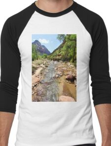 Zion National Park Men's Baseball ¾ T-Shirt
