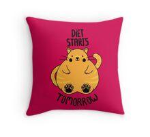 Diet Starts Tomorrow Throw Pillow