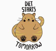 Diet Starts Tomorrow One Piece - Short Sleeve