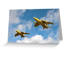 1964 Yellowjacks -  The Forerunners of the Red Arrows Greeting Card