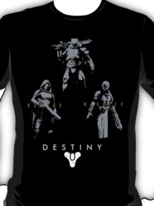 Destiny Hunter Warlock Titan Action Figures T-Shirt