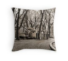 Paris - alley at the Pere Lachaise's cemetery Throw Pillow