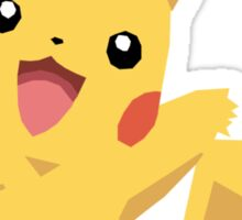 Pikachu Pokemon Simple No Borders Sticker