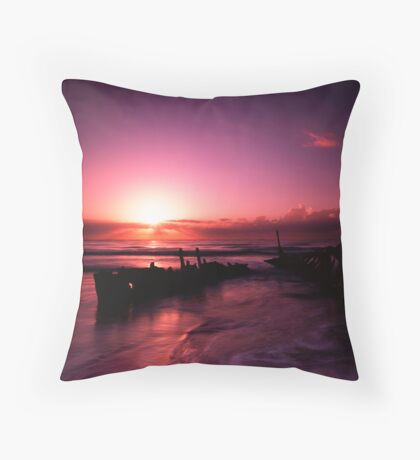 SS Dicky at sunrise Throw Pillow