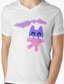 Happ-e-Mon Mens V-Neck T-Shirt