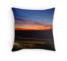 Of Waves and Sunsets Throw Pillow