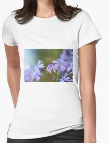 Little Purple Flowers Womens Fitted T-Shirt