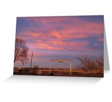 Pink Sky Greeting Card