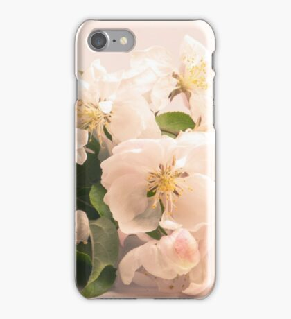 White flowers, spring photography iPhone Case/Skin