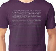 Natalie Goodman Lyrics White to Black Unisex T-Shirt