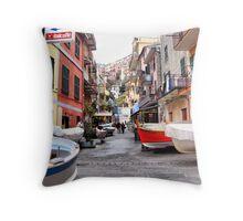Strada Principale Manarola Throw Pillow