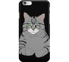 Thinking Cat with glasses iPhone Case/Skin