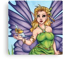 Woodland Fairy Friend Scarf Canvas Print