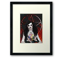 The Dark One, A vampire witch Framed Print