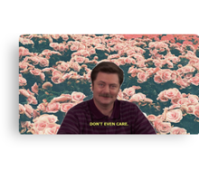 Don't Even Care Canvas Print