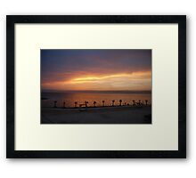 The Dead Sea Sunset, Jordan Framed Print
