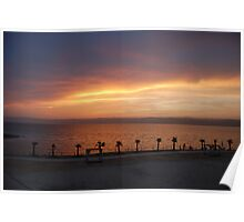 The Dead Sea Sunset, Jordan Poster