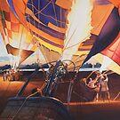 """Fireflies"" Hot Air Balloons Watercolor by Paul Jackson"