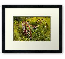 Wagon Wheels A Framed Print