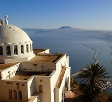 Catholic Chapel Overlooking Oran in Algeria by jasonrow