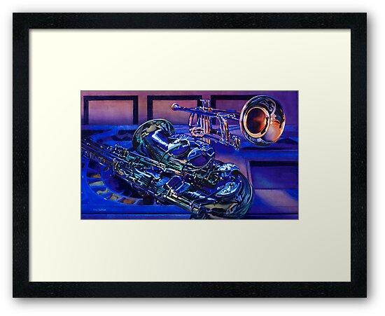 """""""Jazz In Blues"""" Watercolor by Paul Jackson"""