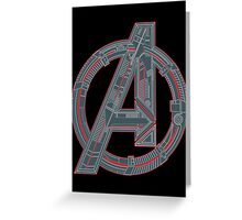 Avengers Logo Greeting Card