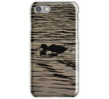 Swimming Coot - photograph iPhone Case/Skin