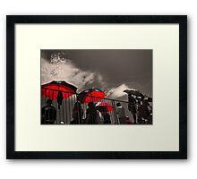 Red Umbrellas Framed Print
