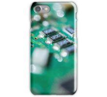 Green Computer Board Macro iPhone Case/Skin