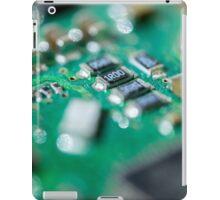 Green Computer Board Macro iPad Case/Skin