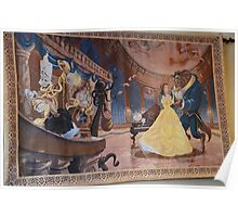 Disney Beauty and the Beast Characters Disney Belle Princesses Poster