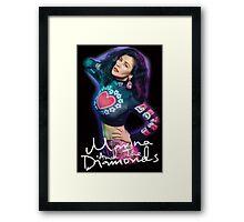 Marina And The Diamonds Black Framed Print