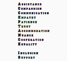 """Acceptance Is"" Acrostic Unisex T-Shirt"