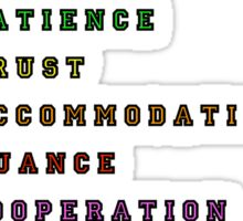 """Acceptance Is"" Acrostic Sticker"
