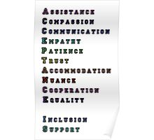 """""""Acceptance Is"""" Acrostic Poster"""