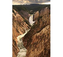 Lower Yellowstone Falls from Artist Point, Yellowstone National Park Photographic Print