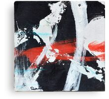 Black White and Red III Canvas Print