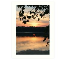 Mississippi sunset Art Print