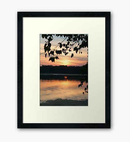 Mississippi sunset Framed Print
